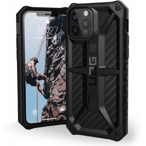 UAG Urban Armor Gear iPhone 12 / 12 Pro Monarch Carbon Schwarz