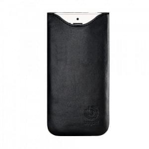 Bugatti Echtleder Tasche SlimFit | iPhone 8 Plus / 7 Plus / 6S Plus | schwarz