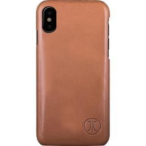 JT Berlin Back Case Kreuzberg | Schutzhülle für iPhone Xs / X | Cognac Echtleder