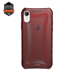 Urban Armor Gear Plyo Case | Schutzhülle für iPhone XR | Crimson rot transparent