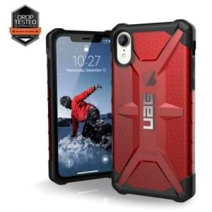 Urban Armor Gear Plasma Case | Schutzhülle für iPhone XR | Magma rot transparent