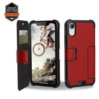 Urban Armor Gear Metropolis Folio Case | Tasche für iPhone XR | Magma Rot