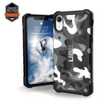Urban Armor Gear Pathfinder Case | Schutzhülle für iPhone XR | Weiß / Camo