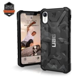 Urban Armor Gear Pathfinder Case | Schutzhülle für iPhone XR | Schwarz / Camo