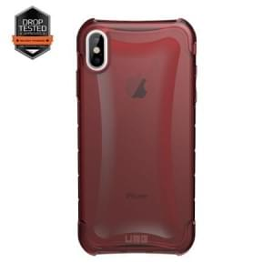 Urban Armor Gear Plyo Case | Schutzhülle für iPhone Xs Max | Crimson rot transparent