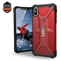 Urban Armor Gear Plasma Case | Schutzhülle für iPhone Xs Max | Magma rot transparent