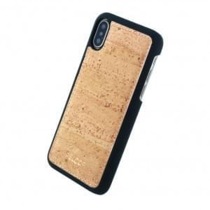 Pelcor Kork Krispy Hardcover für Apple iPhone X - Schwarz