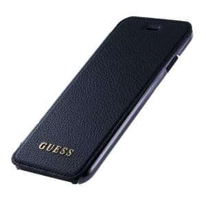 Guess Iridescent Book Cover / Handytasche für Apple iPhone 8 / 7 Schwarz
