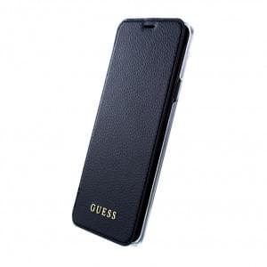 Guess Iridescent Book Cover / Tasche für Samsung Galaxy S9 Plus Schwarz