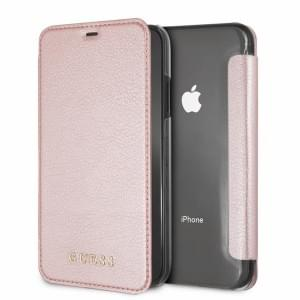 Guess IriDescent Tasche / Book Cover für Apple iPhone XR Rose Gold