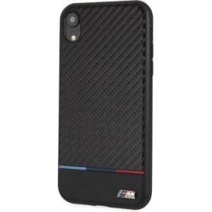 BMW M-Collection Bi-Material Carbon Hülle für iPhone XR Schwarz