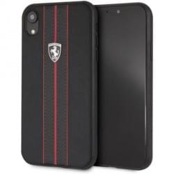 Ferrari Off Track Leder Handyhülle für iPhone XR Schwarz