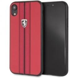 Ferrari Off Track Lederhülle / Cover für iPhone XR Rot