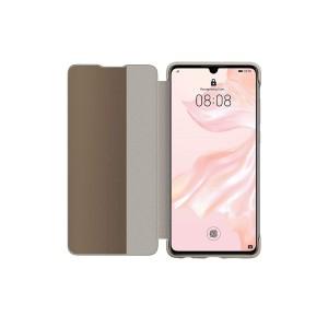 Original Huawei View Flip Smart Cover / Tasche für Huawei P30 Khaki