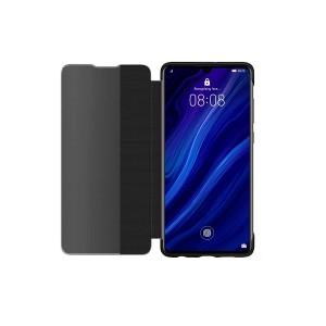 Original Huawei View Flip Smart Cover / Tasche für Huawei P30 Pro Schwarz