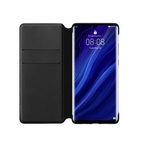Original Huawei Wallet Smart Flip Cover / Tasche für Huawei P30 Schwarz