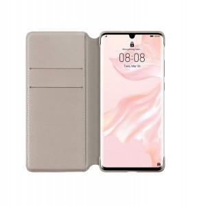 Original Huawei Wallet Smart Flip Cover / Tasche für Huawei P30 Pro Khaki