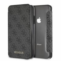 Guess Charms Book Case / Tasche 4G iPhone X / Xs Grau