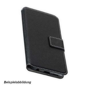 BookStyle Tasche Vertikal für Huawei Mate 20 - Schwarz