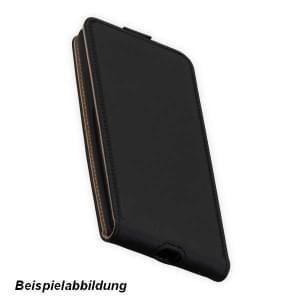 Flip-Style Kunstleder Tasche Vertikal für Google Pixel 3 - schwarz