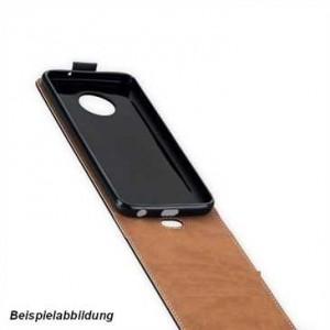 Flip-Style Kunstleder Tasche für Motorola Moto G7 schwarz