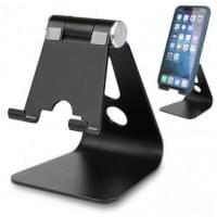 Universal Aluminium Ständer für Tablet & Handy Betrachtungswinkel einstellbar schwarz