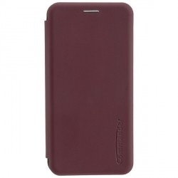 COMMANDER Book Case / Tasche CURVE für Samsung Galaxy A50 Soft Touch Bordeaux