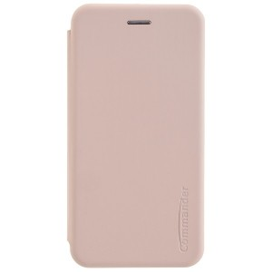 COMMANDER Book Case / Tasche CURVE für Samsung Galaxy A50 Soft Touch Rosa