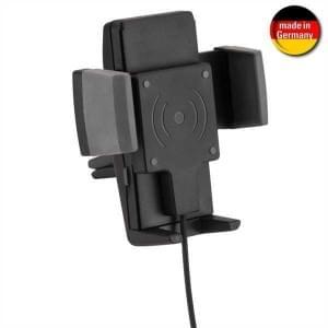 HR Kfz Halter Lüftung Wireless Charger 12-24V FastCharge 10W Breite von 54 - 86 mm