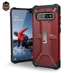 Urban Armor Gear Plasma Case / Cover / Hülle Samsung Galaxy S10+ Plus magma rot transparent