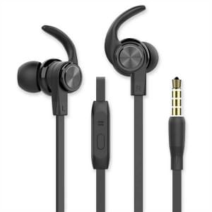 In-Ear Sport Headset 3,5 mm Sicherer Tragekomfort schwarz