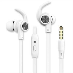 In-Ear Sport Headset 3,5 mm Sicherer Tragekomfort weiß