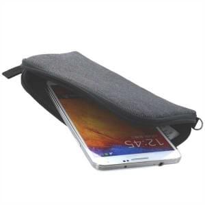 XiRRiX Soft Smartphone Tasche mit Reißverschluss 4XL Größe 168 x 79,6 mm grau