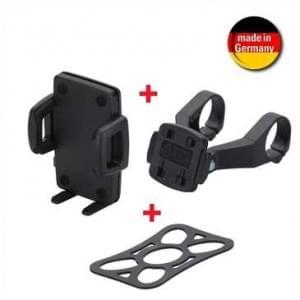 HR Fahrrad / Motorrad Smartphone Halter KIT Dual mit Sicherungsband für Smartphones von 56 - 85 mm