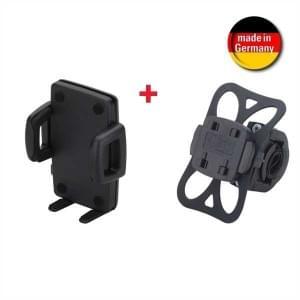 HR Fahrrad / Motorrad Halter Kit QuickFix für Smartphones mit Breite von 56-85 mm (Made in Germany)