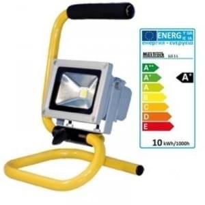 LED Aussen Strahler LLS1L 230V / 10W 800 lm Baustrahler IP65 1.4m