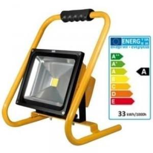 LED Akku Außen Strahler 30W 8.8Ah 2400 Lumen dimmbar 3-12h Arbeitszeit IP65