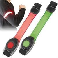 2er Set LED Leucht Armband Sicherheit im Straßenverkehr Sicherheitsbeleuchtung