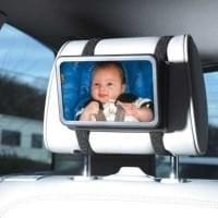 HR Kfz Baby Beobachtungsspiegel mit Klett / Saugerbefestigung - Spiegel Größe: 180 x 135mm