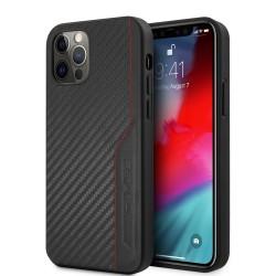 AMG iPhone 12 / 12 Pro Hülle Case Cover Carbon / Leder Schwarz