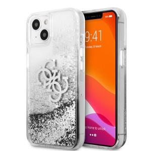 Guess iPhone 13 Hülle Case Cover 4G Big Liquid Glitter Silber