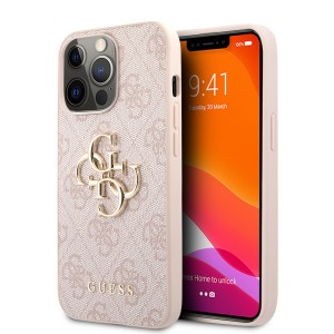 Guess iPhone 13 Pro Max Case Cover Hülle 4G Big Metal Logo Rosa