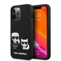 Karl Lagerfeld iPhone 13 Pro Max Hülle Case Cover Silikon Schwarz K & C