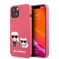 Karl Lagerfeld iPhone 13 mini Hülle Case Cover Silikon Fushia