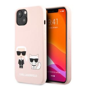 Karl Lagerfeld iPhone 13 mini Hülle Case Cover Silikon Rosa