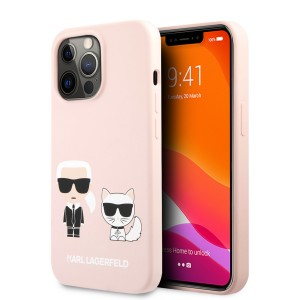 Karl Lagerfeld iPhone 13 Pro Max Hülle Case Cover Silikon Rosa