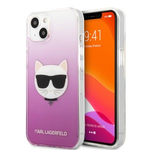 Karl Lagerfeld iPhone 13 Hülle Case Cover Choupette Pink