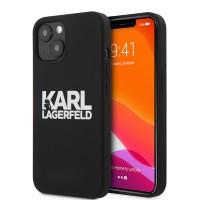 Karl Lagerfeld iPhone 13 mini Hülle Case Cover Silikon schwarz