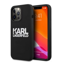 Karl Lagerfeld iPhone 13 Pro Max Hülle Case Cover Silikon schwarz