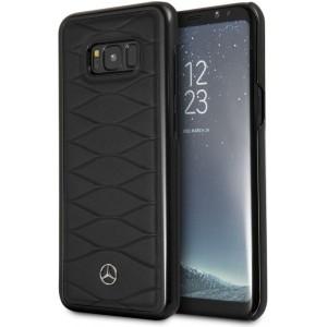 Mercedes Benz Pattern III Lederhülle / Case für Samsung Galaxy S8 Plus Schwarz